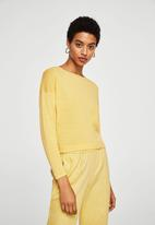 MANGO - Bow wrapped sweater - yellow