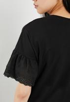 Jacqueline de Yong - Diana anglaise top - black