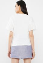 Jacqueline de Yong - Diana anglaise top - white