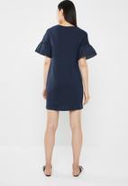 Jacqueline de Yong - Diana anglaise dress - navy