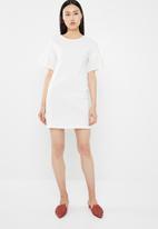 Jacqueline de Yong - Diana anglaise dress - white