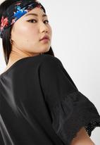 Jacqueline de Yong - Diana anglaise dress - black