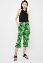 Jacqueline de Yong - King belted culottes - green