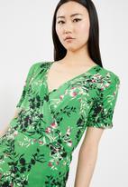 Jacqueline de Yong - King wrap dress - green
