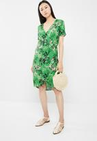 Jacqueline de Yong - King wrap dress - green