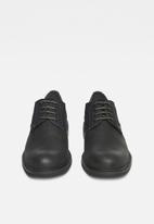 G-Star RAW - Warth derby leather denim mix - black