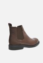 G-Star RAW - Warth chelsea leather denim mix - brown