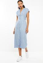 STYLE REPUBLIC - Front button dress - blue