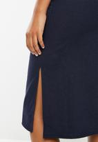 Superbalist - Midi button through skirt - navy