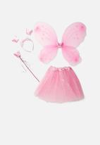 Jewels and Lace - Butterfly wing and tutu - mid pink