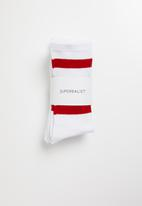 Superbalist - 3 pack sport socks - white