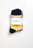 Superbalist - 3 pack stripe socks - multi