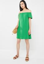 c(inch) - Bardot dress - green