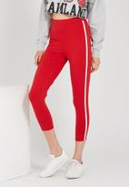 Supré  - The side stripe legging - red