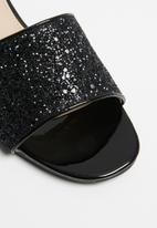 Superbalist - Ana glitter mule - black