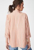Cotton On - Deconstructed soft blazer - peach