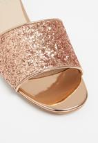 Superbalist - Ana glitter mule - rose gold