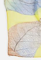 G Couture - Leaf print scarf - orange