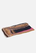 G Couture - Striped scarf - brown