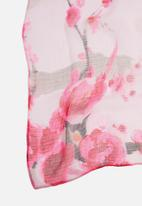 G Couture - Flower print scarf - pink