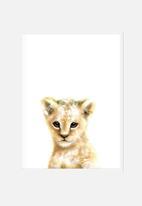 Simply Child - Lion cub watercolour print
