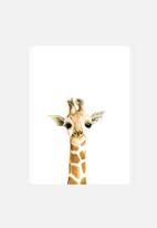 Simply Child - Giraffe watercolour print