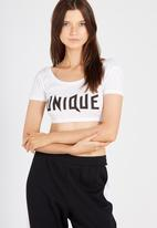 Supré  - Printed tiny tee unique - white