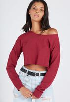 Supré  - Super crop sweat - burgundy