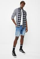 Only & Sons - Ocean rock check shirt - black