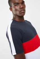Only & Sons - Bailey colourblock tee - navy/white
