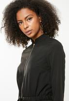 Missguided - Utility zip front jumpsuit-black