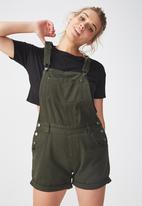 Supré  - The denim dungaree - khaki