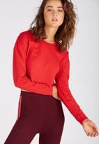 Supré  - Long sleeve super crop cuff tee - red