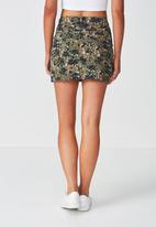 Supré  - Cargo mini skirt - green, black & brown