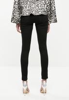 Missguided - Anarchy mid rise skinny jeans - black