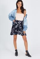 Supré  - Poppy mini wrap skirt - navy