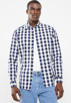 Jack & Jones - Gingham shirt - navy