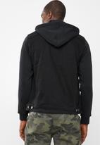 Jack & Jones - Denim hood jacket - black