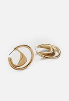 MANGO - Hoop earrings - gold