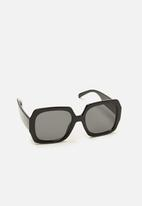 MANGO - Diagonal sunglasses - black