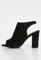 New Look - Comfort flex peep toe block heels - black