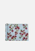 MANGO - Floral print cosmetic bag - blue