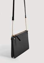 MANGO - Saffiano bag - black