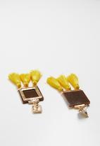 Superbalist - Thuli tassel earrings - yellow