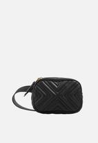 MANGO - Quilted belt bag - black