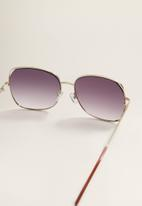 MANGO - Retro sunglasses - gold