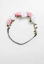 Jewels and Lace - Flower headband - multi
