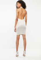 Missguided - Printed checkerboard midi dress - neutral