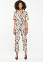 Missguided - Snake print shirt jumpsuit - multi