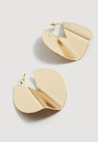 MANGO - Metal earrings - gold